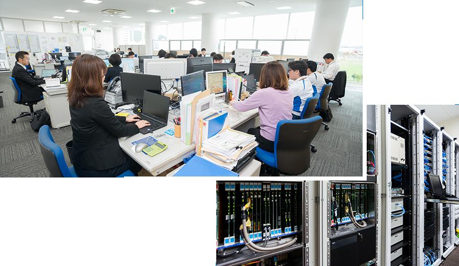 興洋電子オフィスの風景と配線
